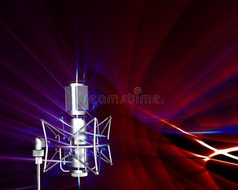 Ricezione delle onde sonore illustrazione di stock