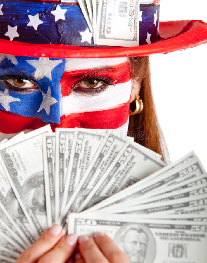 Download Rich American woman stock image. Image of background - 24705999
