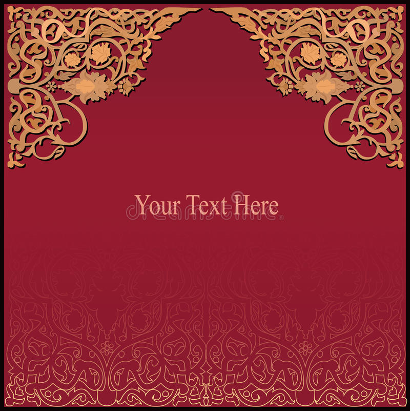 Rich arabic background. vector EPS8 stock illustration