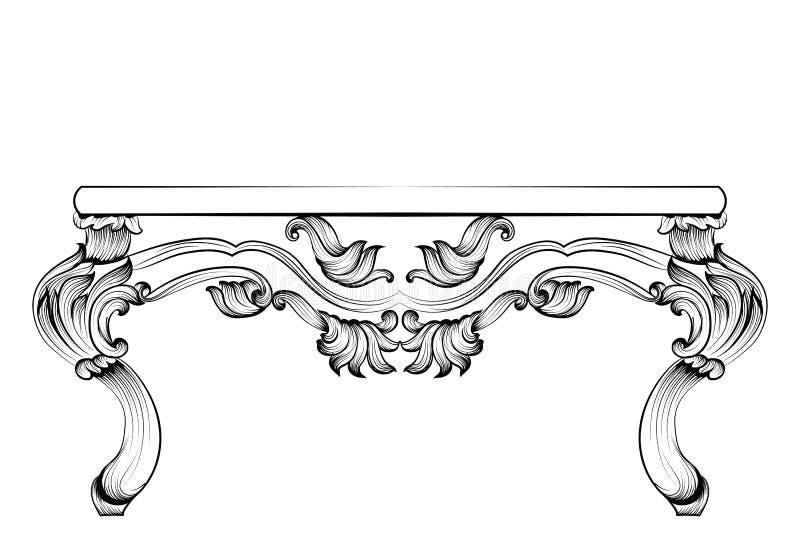 Rich Baroque Table Verzierten Französischer Luxus Geschnitzte ...