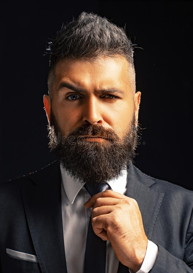 Rich bearded man dressed in classic suits. Elegance casual dress. Fashion suit. Luxury mens clothing. Man in suit. Businessman confidence. Classical costume stock photos