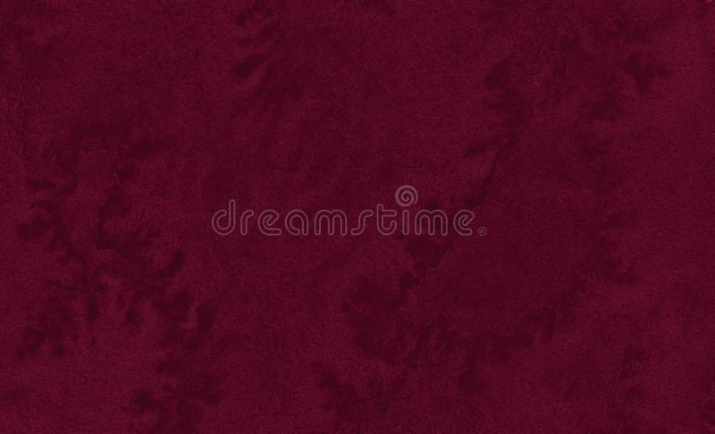 Rich burgundy watercolor frame with with bizarre natural divorces and stripes. Abstract background for design. Layouts and patterns royalty free stock photo