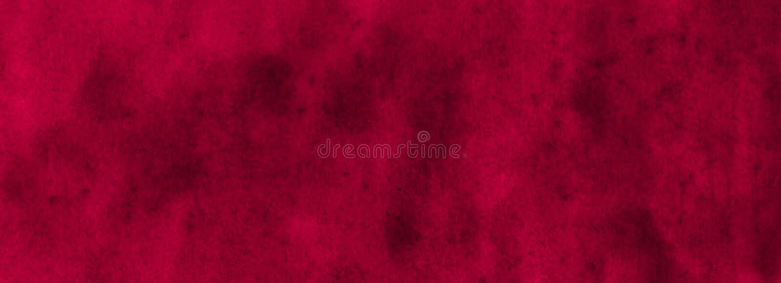 Rich burgundy watercolor frame with torn strokes and stripes. Abstract background for design, layouts, patterns royalty free stock photos