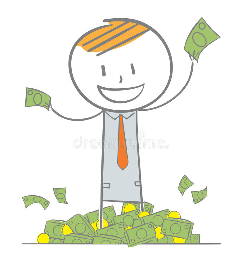 Rich Business Man royalty free illustration