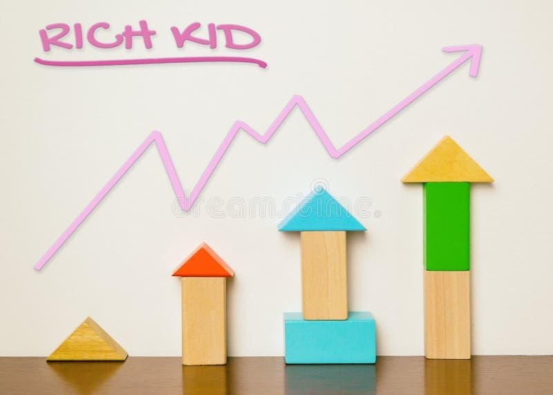 Rich Child Education-grafisch concept royalty-vrije stock afbeeldingen