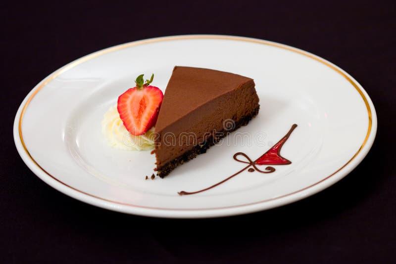 Rich Chocolate Cheesecake stock image
