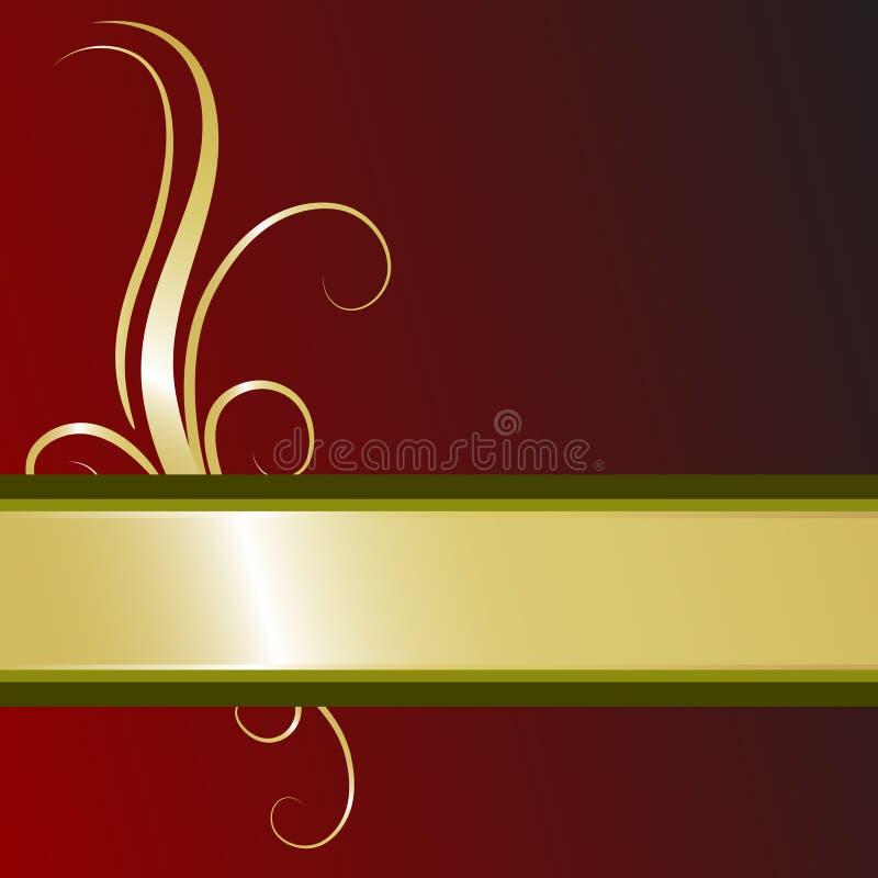 Download Rich Christmas Ribbon stock illustration. Illustration of golden - 10246543