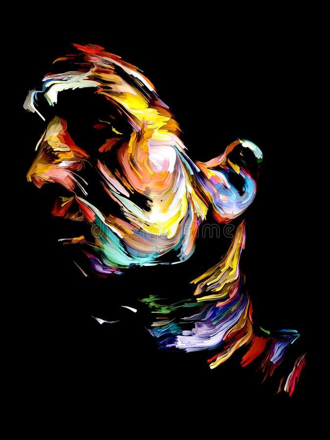 Colorful Abstract Portrait Painting royalty free illustration