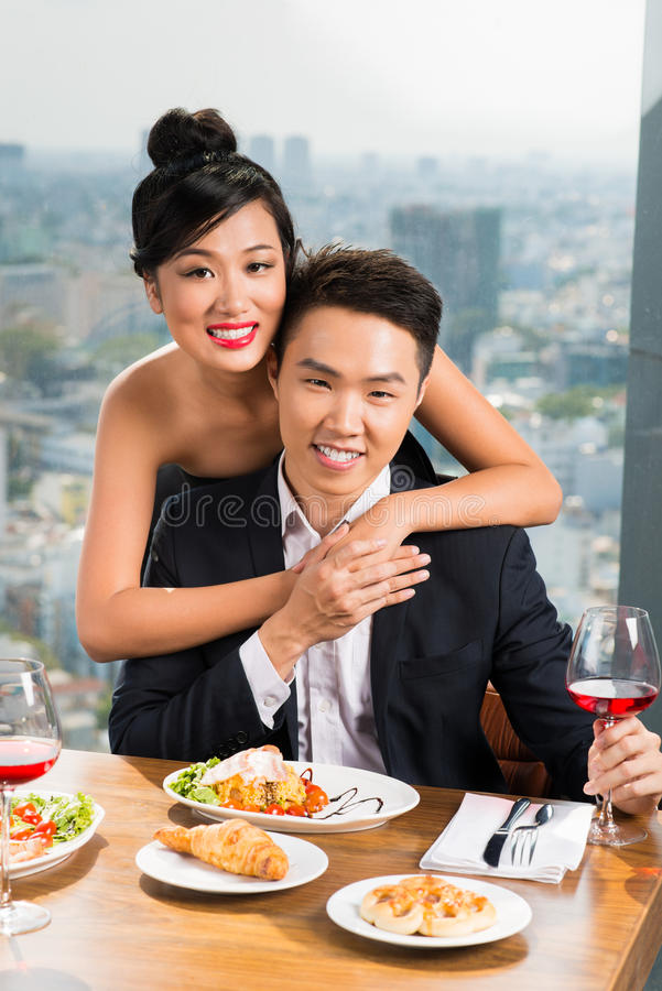 Rich couple royalty free stock photography