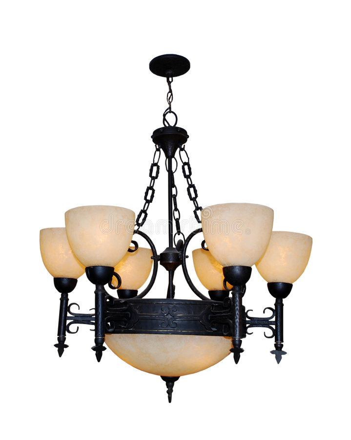 Rich Decorated Chandelier royalty free stock photography