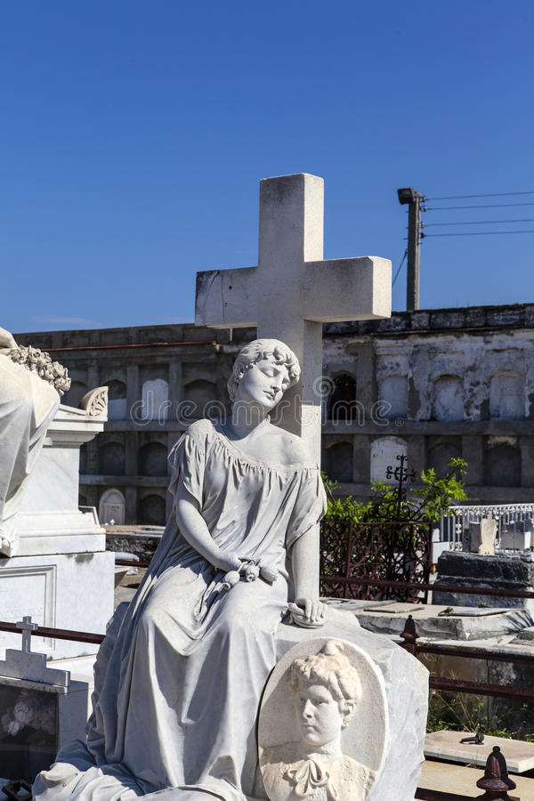 Rich decorated grave at the Roman Catholic Cementerio la Reina cemetery in Cienfuegos, Cuba stock images
