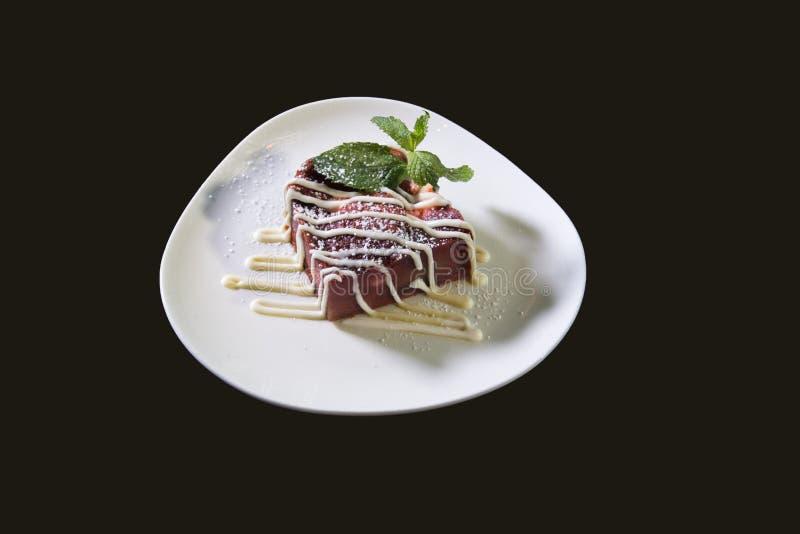 Rich Fresh Strawberry Dessert Plate stock images