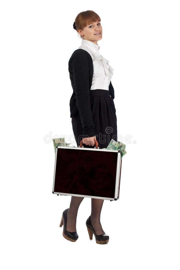 Download Rich girl stock photo. Image of briefcase, concept, leather - 14094072