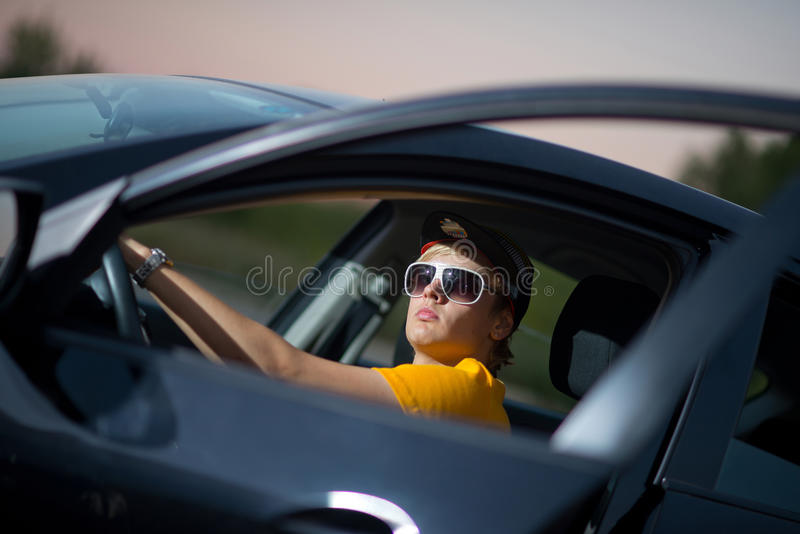 Download A Rich Guy In A Car, Cool Dude Stock Photo   Image Of Build