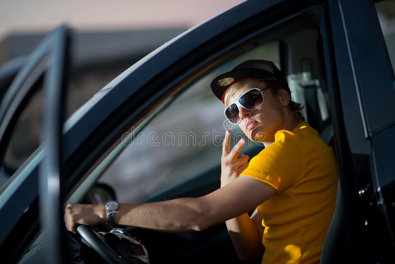 Download A Rich Guy In A Car, Cool Dude Stock Image   Image Of Muscle