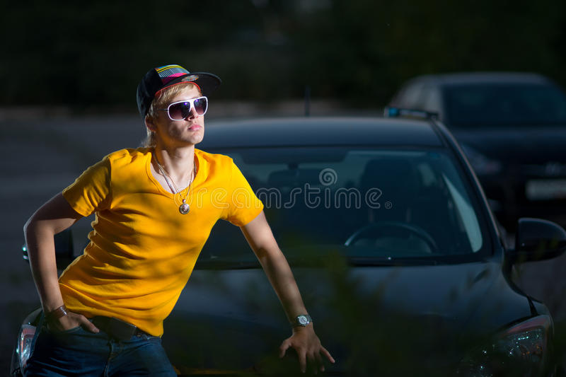 Download A Rich Guy In A Car, Cool Dude Stock Photo   Image Of Looking