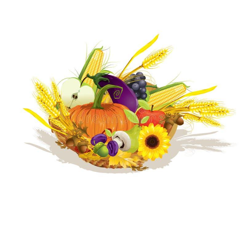 Download Rich harvest of vegetables stock vector. Image of fruit - 22140035