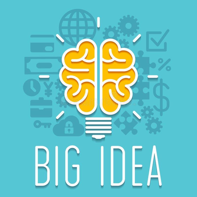 Rich idea innovation light bulb infographic concept royalty free illustration