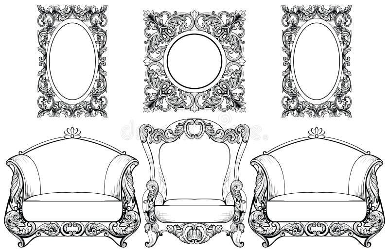 Rich Imperial Baroque Rococo-Möbel Und -rahmen Eingestellt ...