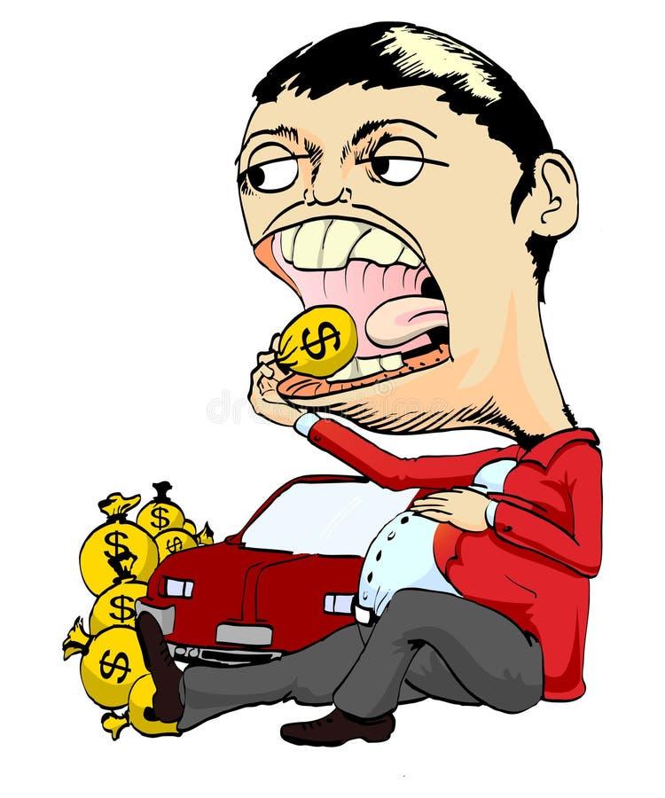 Download Rich Man Or Coruptor Eat Dollars Royalty Free Stock Images - Image: 21016669