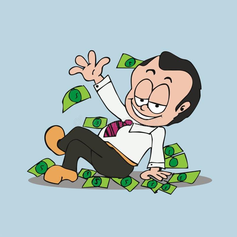 the rich man cartoon vector stock vector illustration of