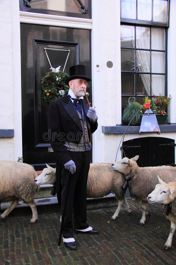 Download Rich Man And Sheep In The Street Editorial Image - Image: 22483475