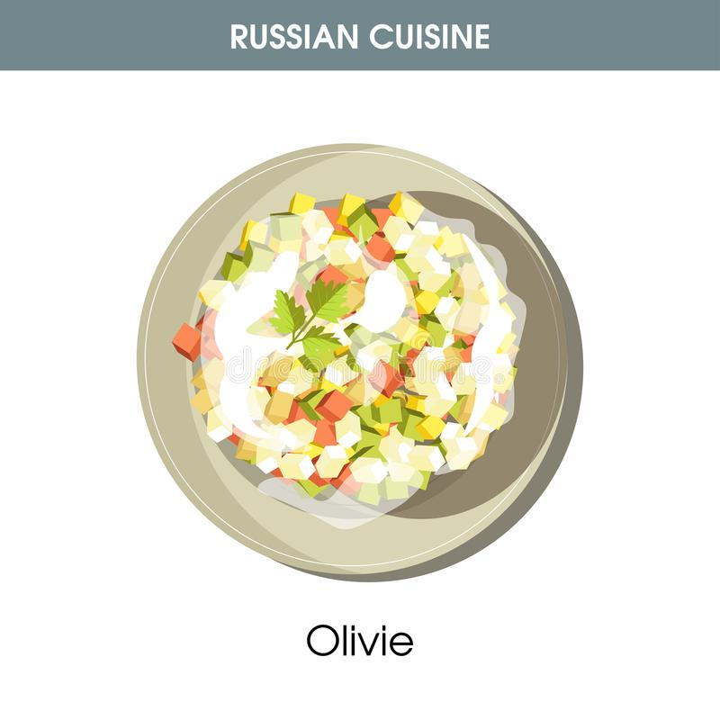 Free Rich Olivie Salad Dressed With Mayonnaise From Russian Cuisine Royalty Free Stock Images - 108043159