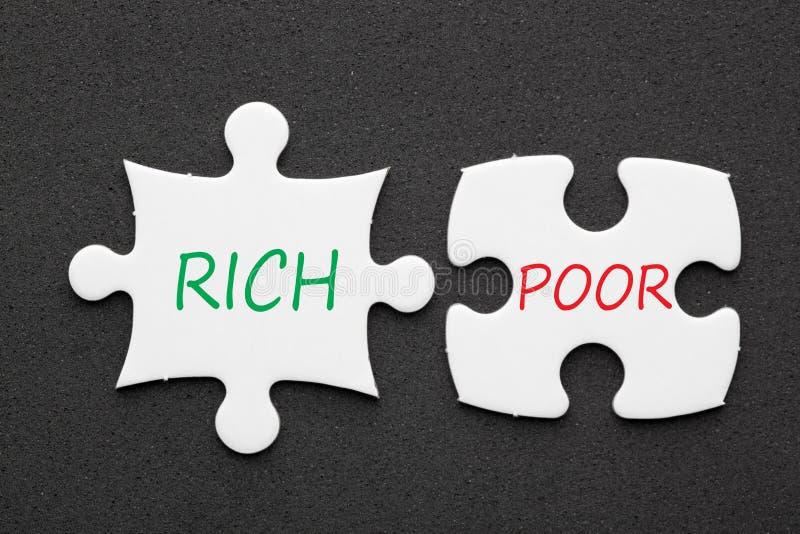 Rich Poor Concept photo libre de droits