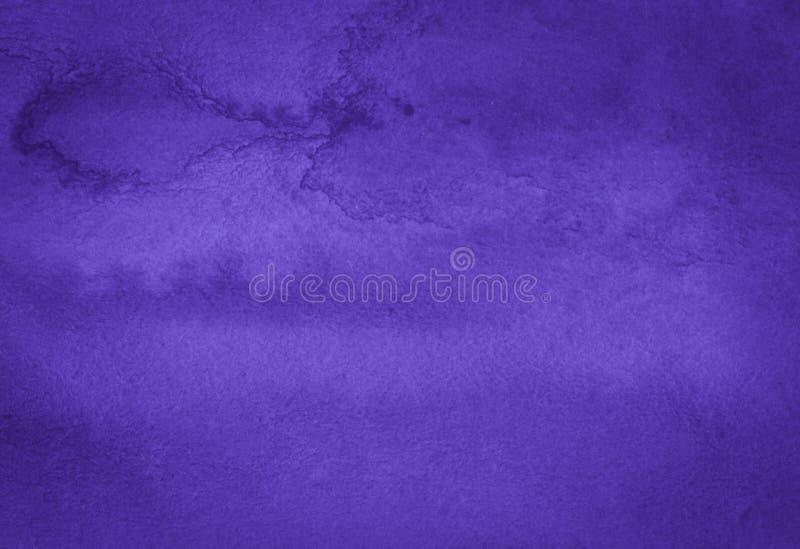 Rich Purple Watercolor-achtergrond met bizarre natuurlijke scheidingen en strepen Abstract kader met exemplaarruimte vector illustratie