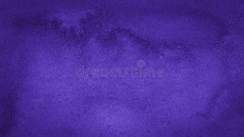 Rich Purple Watercolor-achtergrond met bizarre natuurlijke scheidingen en strepen Abstract kader met exemplaarruimte royalty-vrije illustratie