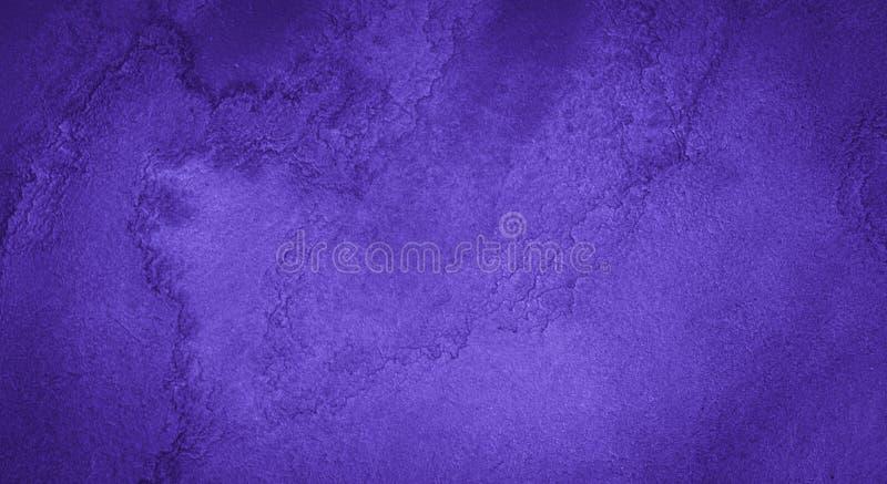 Rich Purple Watercolor-achtergrond met bizarre natuurlijke scheidingen en strepen Abstract kader met exemplaarruimte stock illustratie
