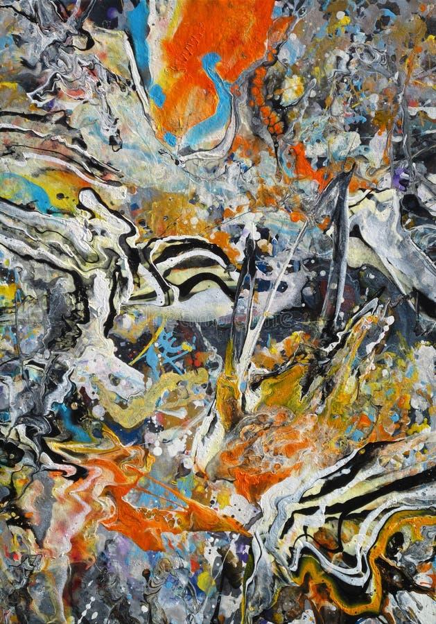 Rich Splashy Colors Abstract immagini stock libere da diritti