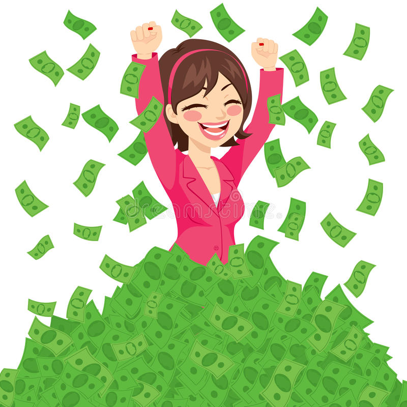 Rich Successful Businesswoman illustrazione di stock