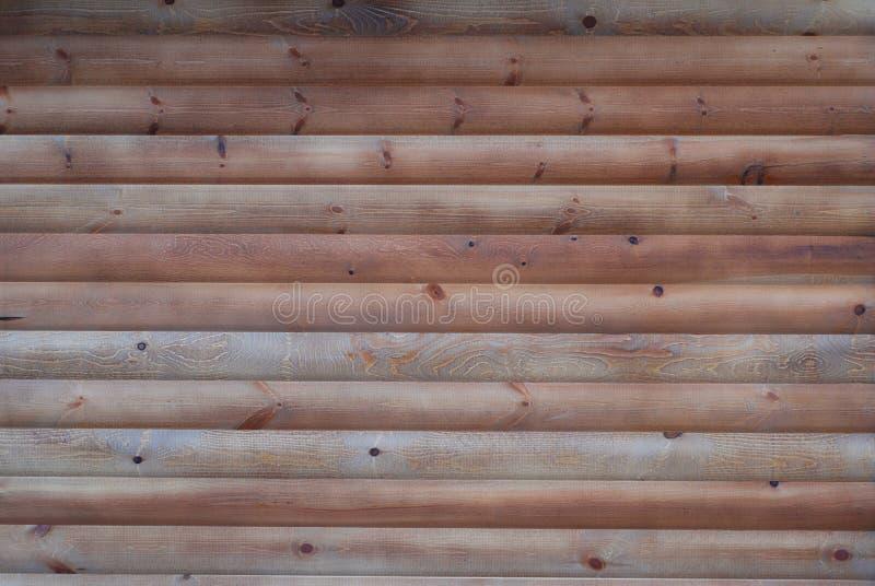 Rich Texture de mur en bois fait de beaucoup de longs supports minces placés horizontalement, vue supérieure, fond rustique natur photographie stock libre de droits