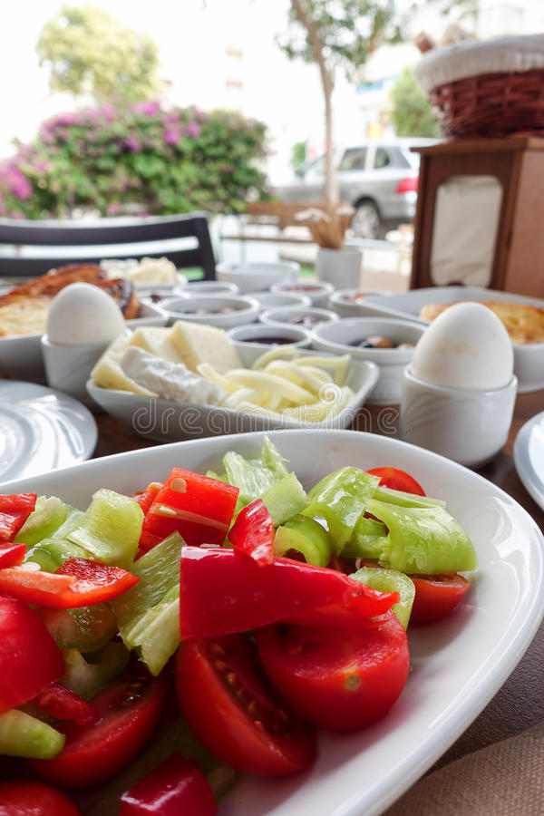 Rich Turkish Breakfast traditionnel photographie stock
