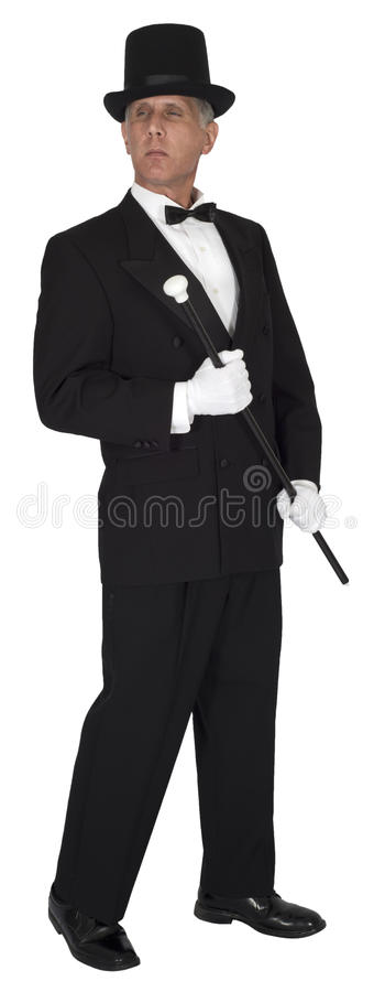 Rich Wealthy Man, Success, Money, Isolated stock image