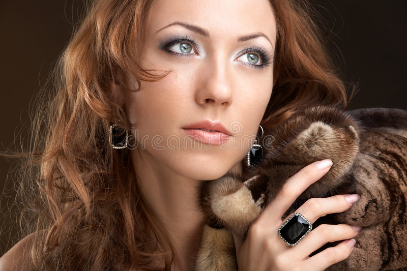 Rich woman royalty free stock photo