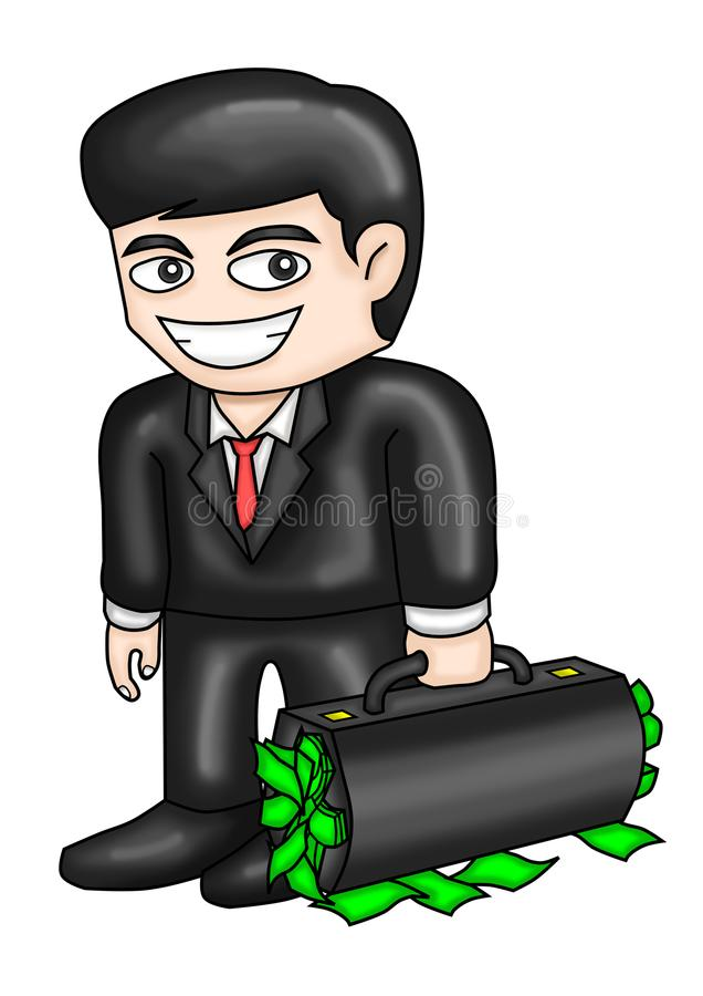 Rich Worker Cartoon e ilustrações foto de stock