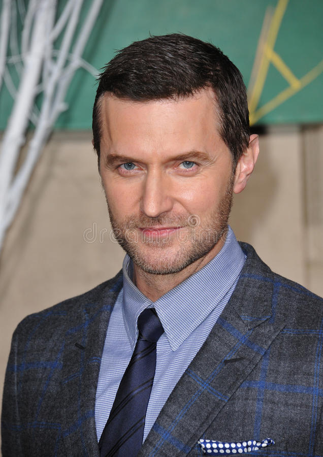 Richard Armitage. LOS ANGELES, CA - DECEMBER 9, 2014: Richard Armitage at the Los Angeles premiere of his movie The Hobbit: The Battle of the Five Armies at the royalty free stock photos