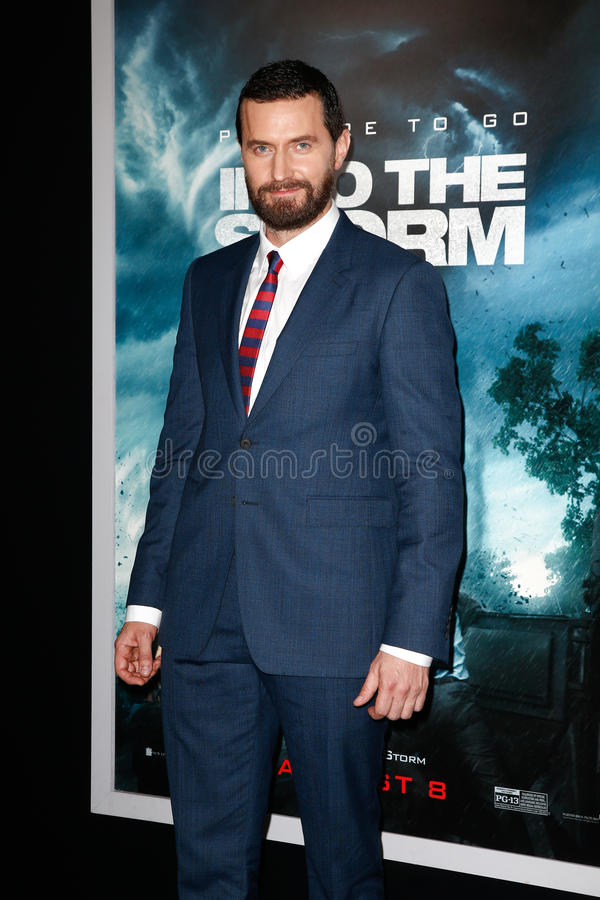 Richard Armitage. NEW YORK-AUG 4: Actor Richard Armitage attends the Into The Storm premiere at the AMC Lincoln Square Theater on August 4, 2014 in New York City stock photography