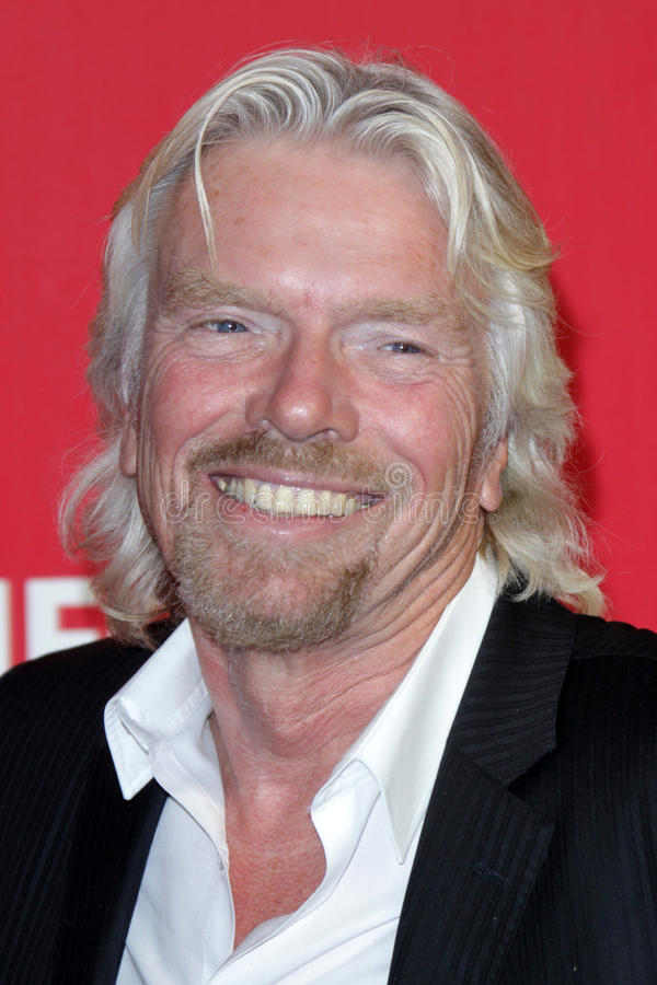 Richard Branson. LOS ANGELES - FEB 10: Richard Branson arrives at the 2012 MusiCares Gala honoring Paul McCartney at LA Convention Center on February 10, 2012 in royalty free stock photography