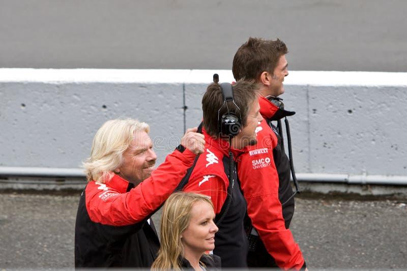 Richard Branson bij de Grand Prix van Montreal royalty-vrije stock afbeelding