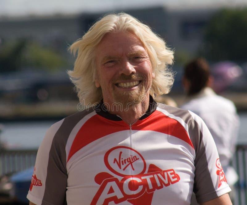 Richard Branson die Maagdelijke Actief bevorderen royalty-vrije stock foto