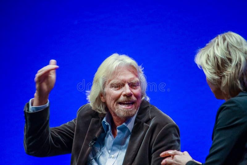 Richard Branson, fundador y presidente del grupo de la Virgen foto de archivo