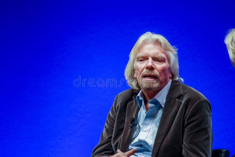 Richard Branson, fundador y presidente del grupo de la Virgen fotos de archivo libres de regalías