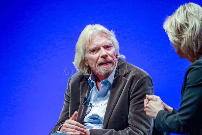Richard Branson, fundador y presidente del grupo de la Virgen imágenes de archivo libres de regalías