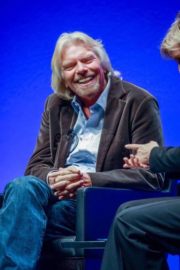 Richard Branson, fundador y presidente del grupo de la Virgen fotografía de archivo