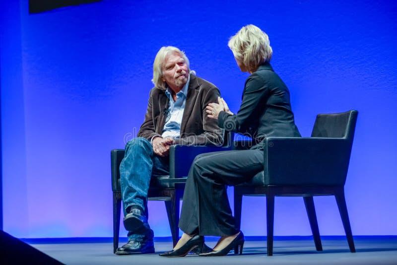 Richard Branson, fundador y presidente del grupo de la Virgen imagenes de archivo