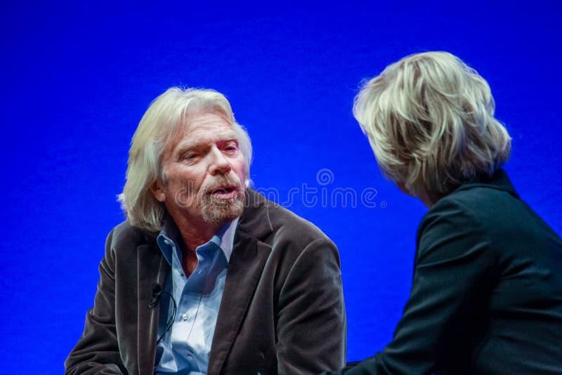 Richard Branson, fundador y presidente del grupo de la Virgen fotografía de archivo libre de regalías