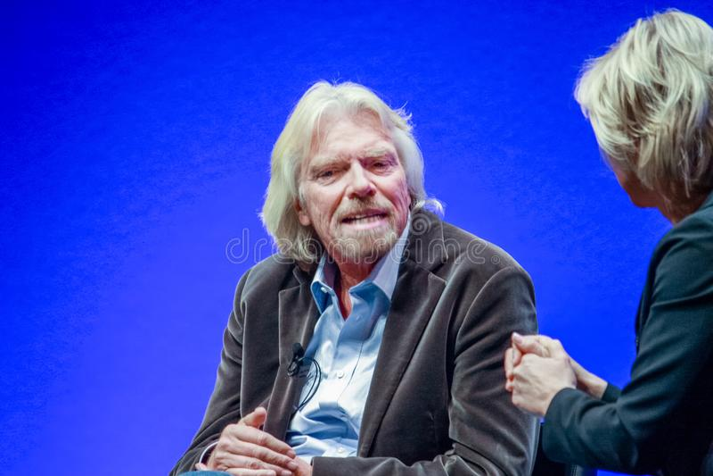 Richard Branson, fundador y presidente del grupo de la Virgen imagen de archivo libre de regalías